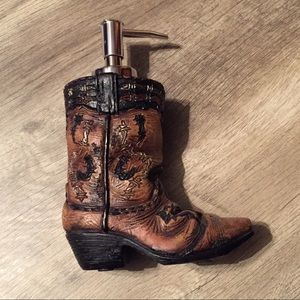 Cowboy Boot Western Handsoap Dispenser